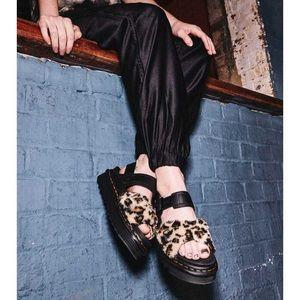 NIB DR. MARTENS Voss II Leopard Leather Sandals